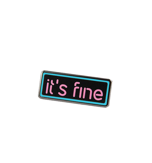 jsxfr julien solomita free radicals it's fine neon sign pink and blue pin