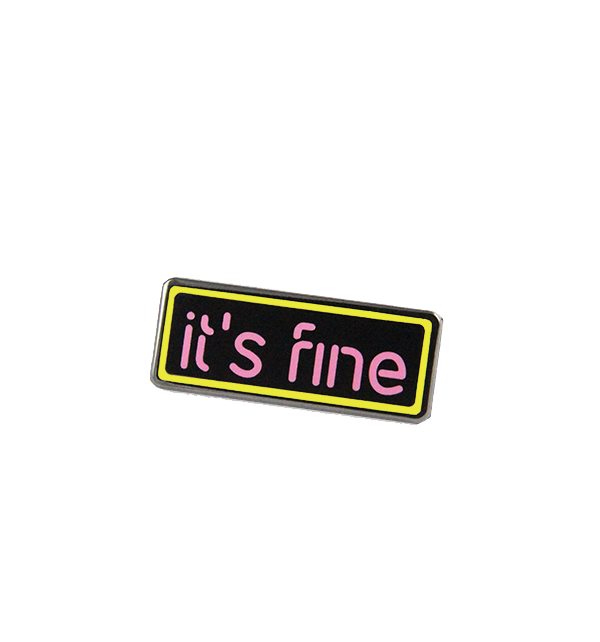 jsxfr julien solomita free radicals it's fine neon sign pink and yellow pin