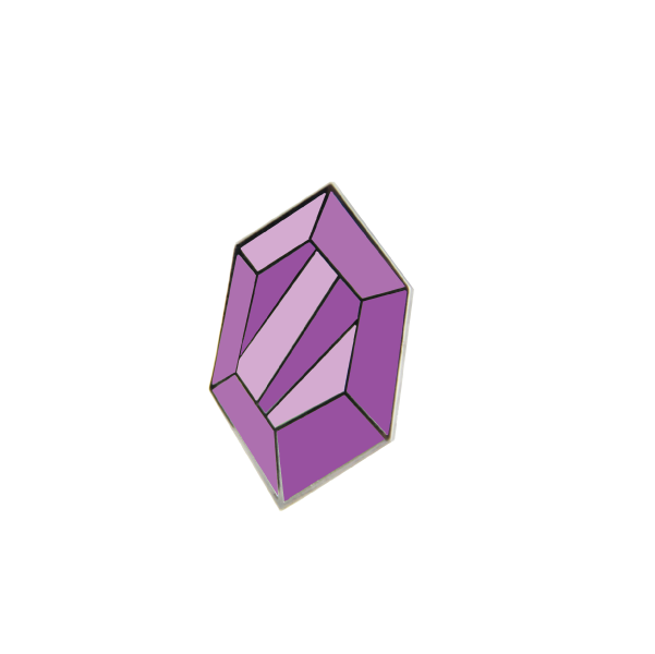 purple rupee pin by free radicals