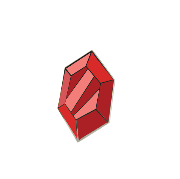 red rupee pin by free radicals
