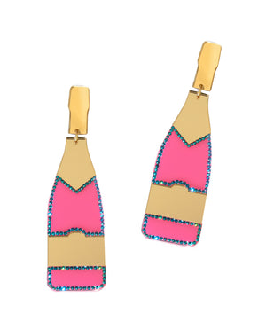 XL Pink Champagne Earrings