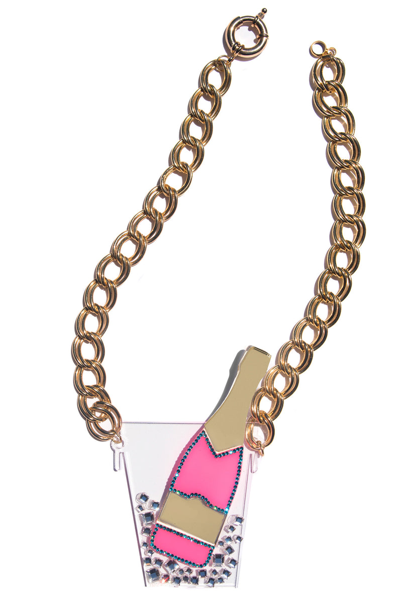 XL Pink Champagne Necklace