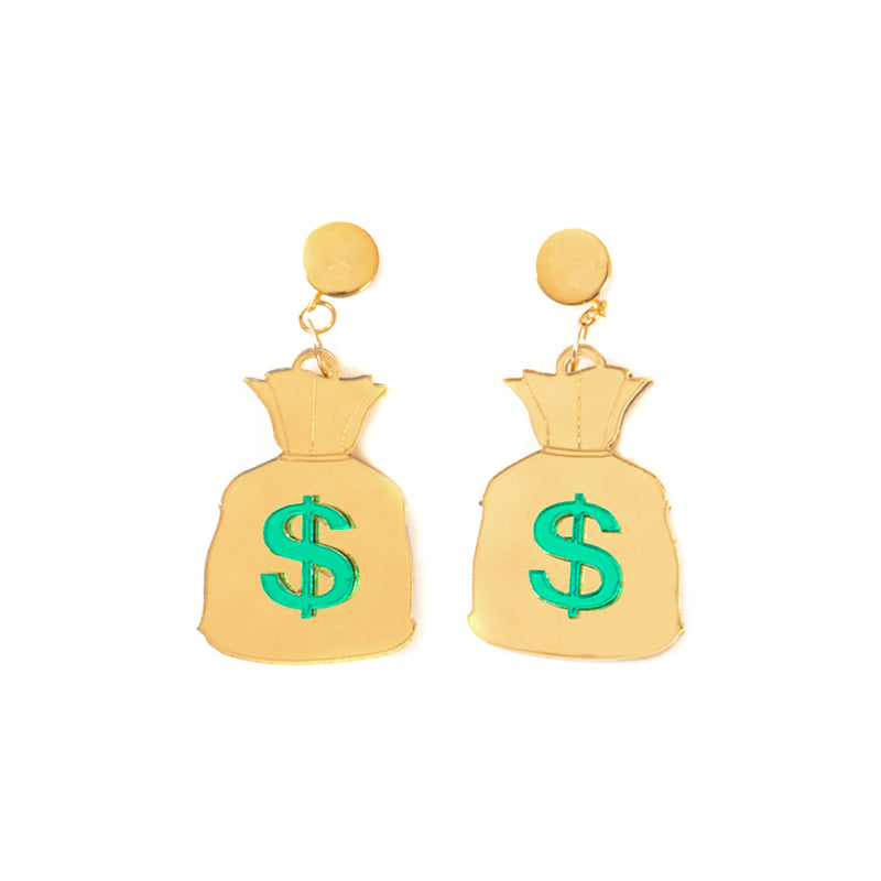 Money Bag Earrings