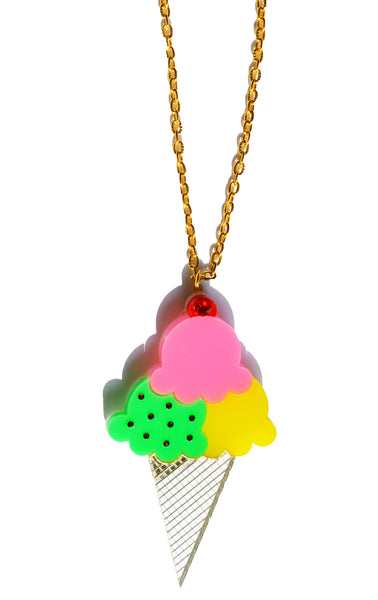 Mini Ice Cream Cone Necklace