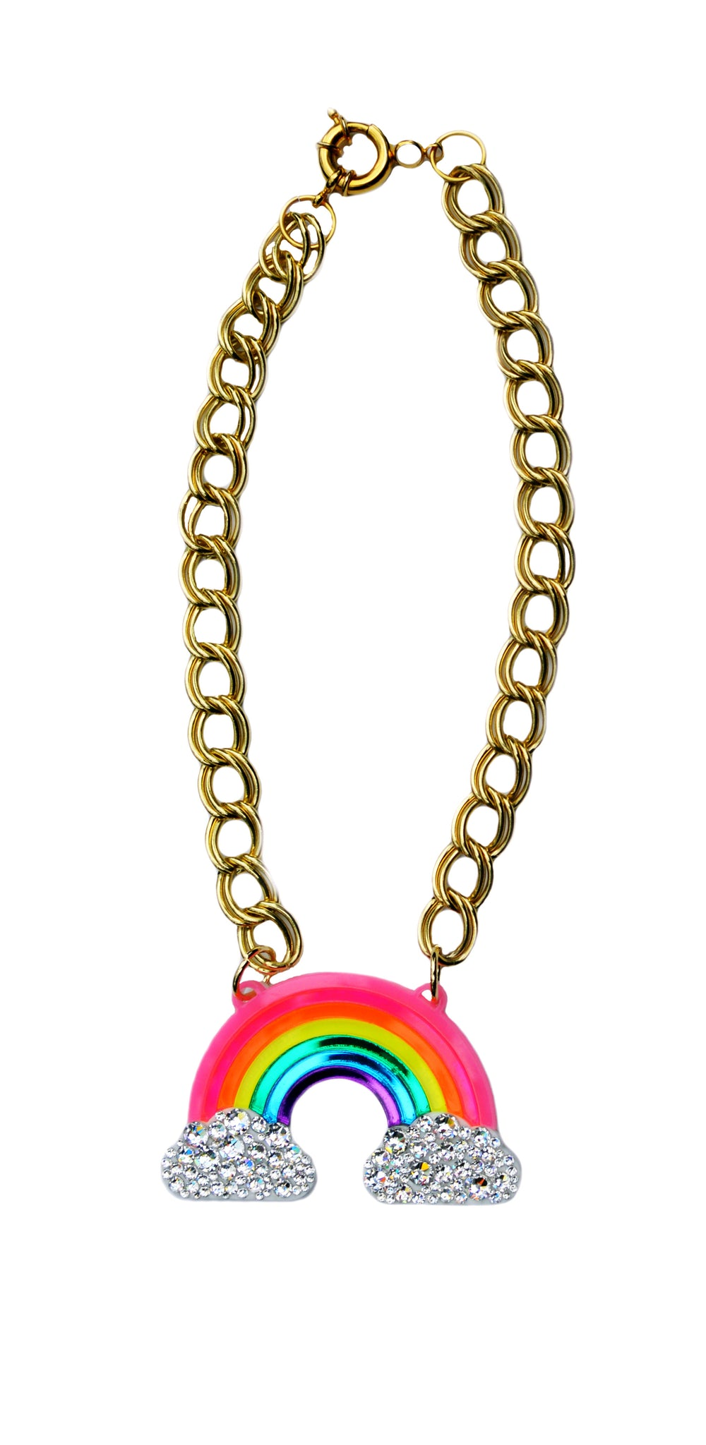 fashion crystal rainbow products light jewelry gold necklace years