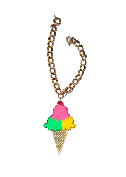 XL Ice Cream Cone Necklace