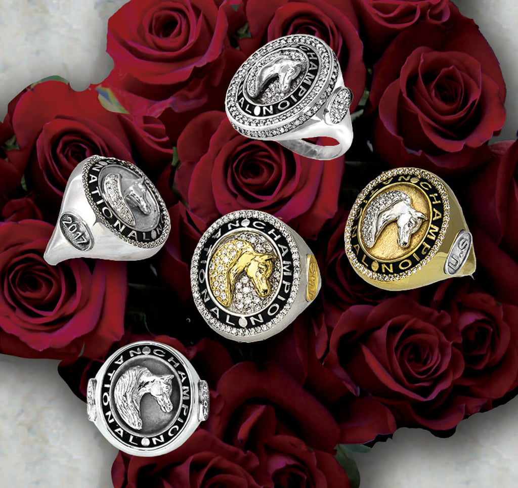 Arabian Horse National Champion rings