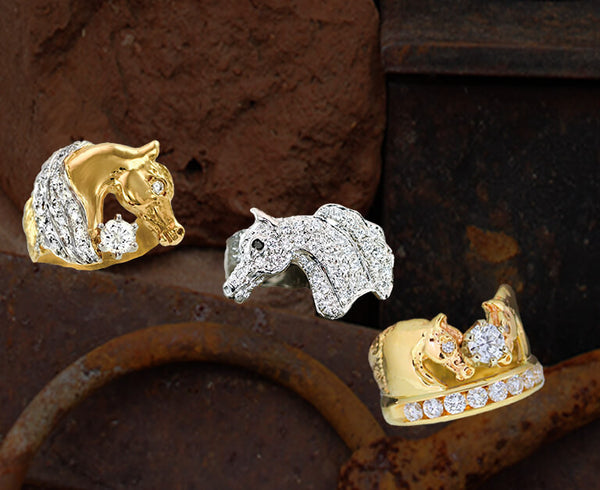 Arabian Horse Ring Collection of unique horse rings by Lesley Rand Bennett