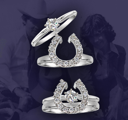 Two Become One Horse Shoe Wraps  &  Equestrian Engagement Sets
