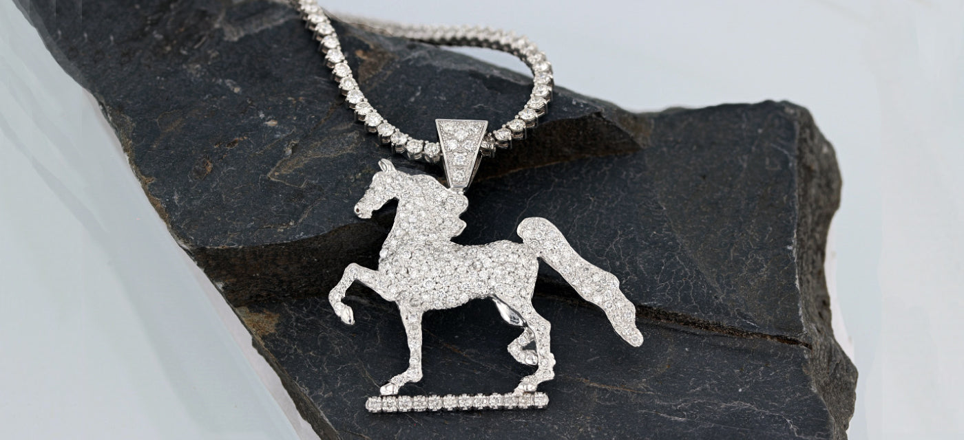 Pave horse pendant by Lesley Rand Bennett