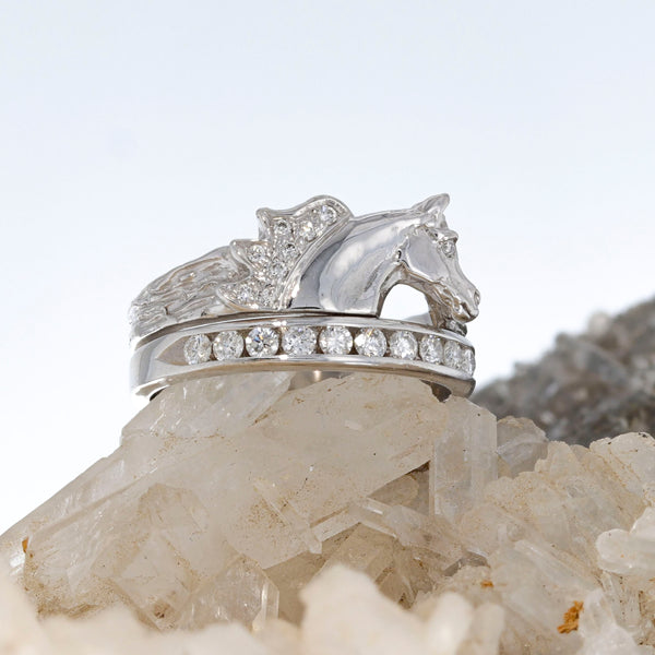Diamond Arabian Horse Head Ring