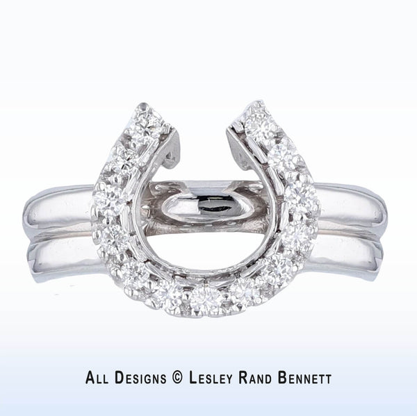 Horse Shoe Wedding Set (low profile)