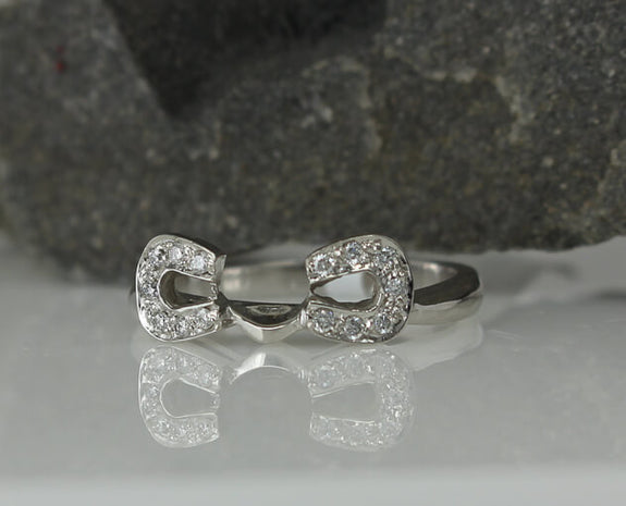 Two Become One Double Horseshoe Wrap Engagement Set - Bennett Fine Jewelry