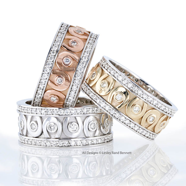 Diamond Horseshoe eternity band by Lesley Rand Bennett