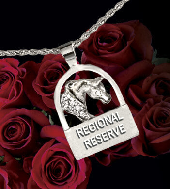 Regional Arabian Horse Reserve Champion award pendant 14k white gold  with diamonds