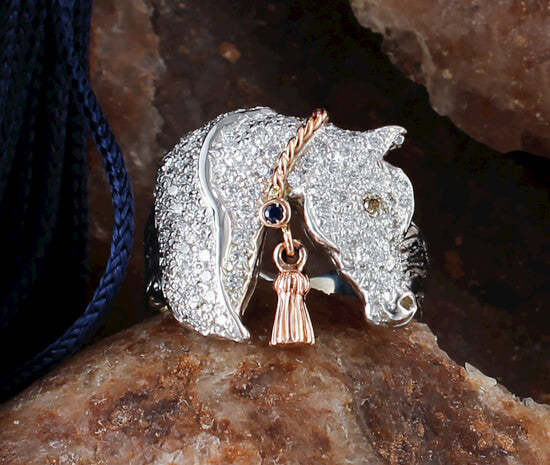 Pave Arabian Ring with Tassel - Bennett Fine Jewelry