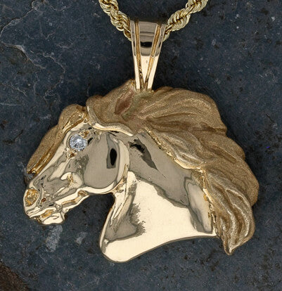 Horse Head Pendant with Diamond Eye - Bennett Fine Jewelry