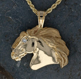 Horse Head Pendant with Diamond Eye