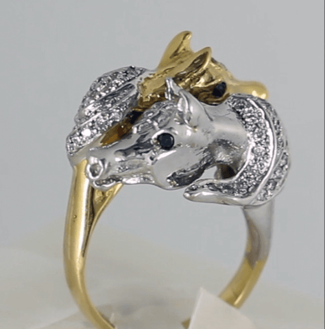 Arabian Horse Best Friends Ring