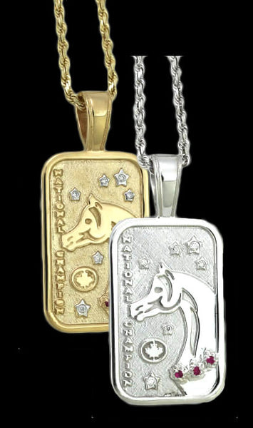 Canadian Arabian and Half-Arabian National Championship Tag Pendant - Bennett Fine Jewelry