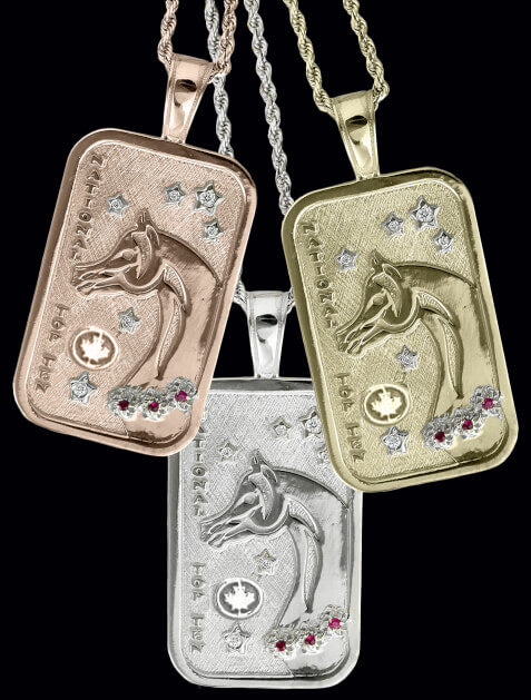 Canadian Arabian and Half-Arabian National Top Ten Tag Pendant - Bennett Fine Jewelry