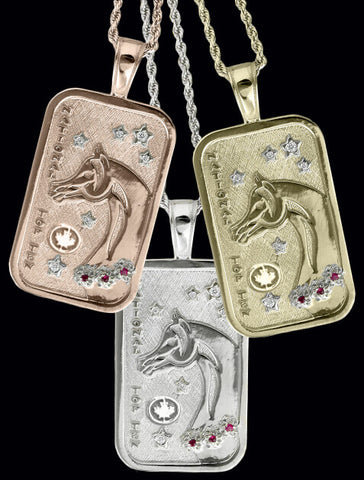 Canadian Arabian and Half-Arabian National Top Ten Tag Pendant