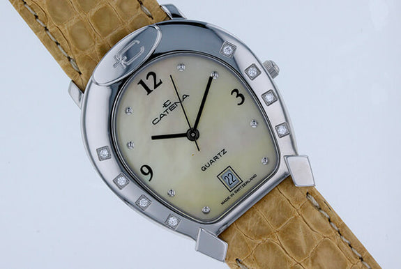 Medium Catena Horseshoe Watch Champagne on Champagne - Bennett Fine Jewelry