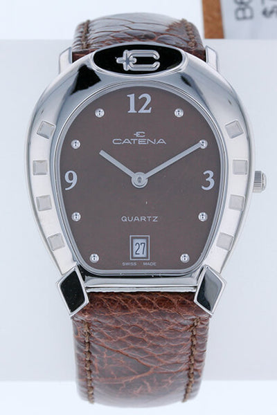 Catena Horseshoe Watch Medium Chocolate on Chocolate - Bennett Fine Jewelry