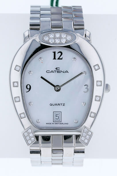 Medium Tips and Tops -Diamond Catena Horseshoe Watch - Bennett Fine Jewelry