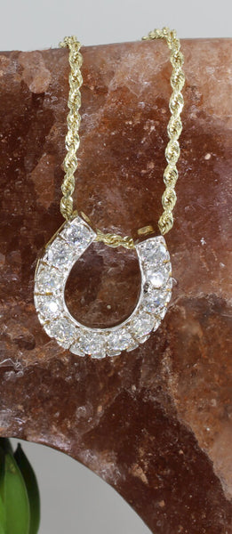 Diamond Horseshoe pendant with 1.35c.t.w. by Lesley Rand Bennett