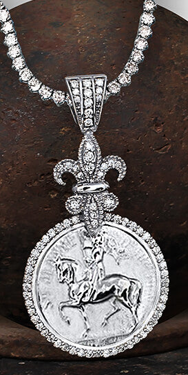 Joan of Arc 1488 Diamond Pendant - Bennett Fine Jewelry