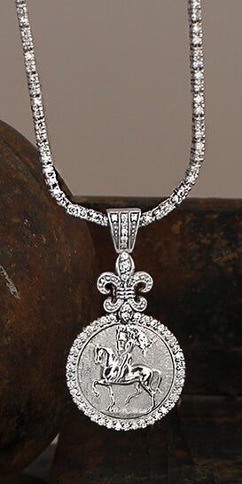 Joan of Arc 1522 Diamond Pendant - Bennett Fine Jewelry