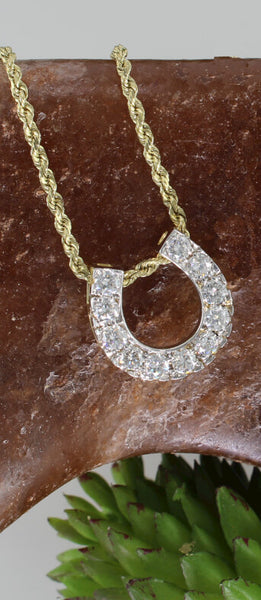 Diamond horseshoe pendant with 0.90c.t.w. by Lesley Rand Bennett