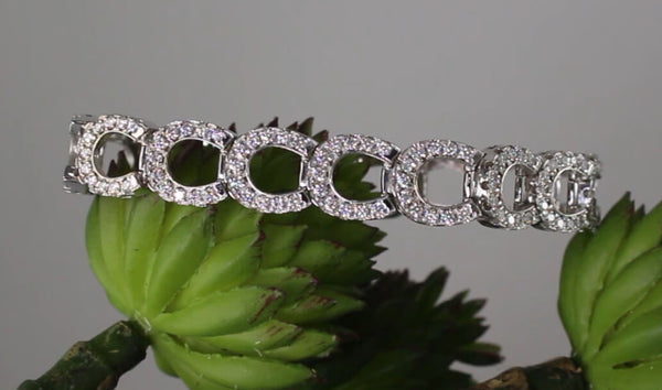 Diamond Horseshoe Bracelet with 3ctw Diamonds - Bennett Fine Jewelry