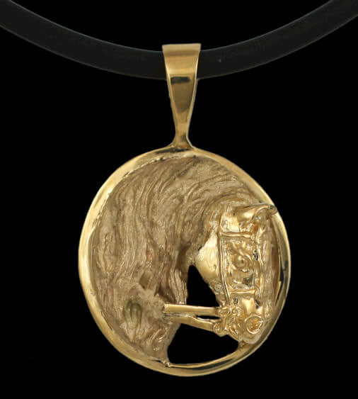 Double Bridle Horse Pendant