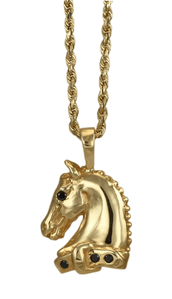arabian horse pendant copyright and design by Lesley Rand Bennett