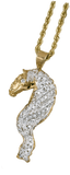 Friesian Horse Head With Flowing Mane Pendant