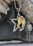 alternative view Yellow gold and diamond star and horse head pendant  handcrafted by LesleyRand Bennett