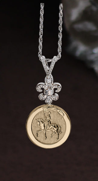 Joan of Arc- Diamond Destrier Pendant  C1489s - Bennett Fine Jewelry