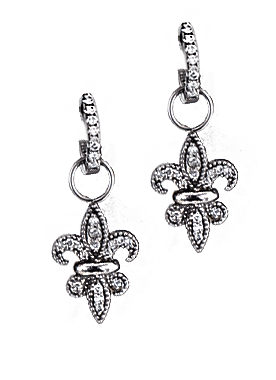 Large Fleur de lis Earrings - Bennett Fine Jewelry