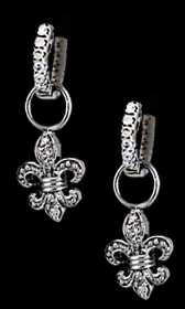 Fleur de lis Earrings - Bennett Fine Jewelry
