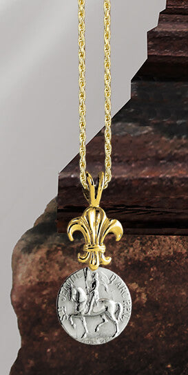 Joan of Arc Astride Pendant - Bennett Fine Jewelry