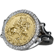 Joan of Arc on Her Warhorse Diamond Ring - Bennett Fine Jewelry