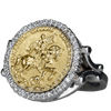 Joan of Arc on Her Warhorse Diamond Ring