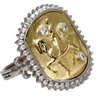 Joan of Arc on Her Charger 14K Gold and Diamond Ring