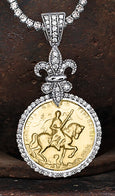 Joan of Arc Pendant Warhorse - Bennett Fine Jewelry