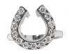 Large Diamond  Horseshoe Wrap Ring in 14k white gold by Lesley Rand Bennett