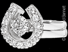 Large Horseshoe Wrap wedding ring set with 1/2 carat solitaire ring by Lesley Rand Bennett