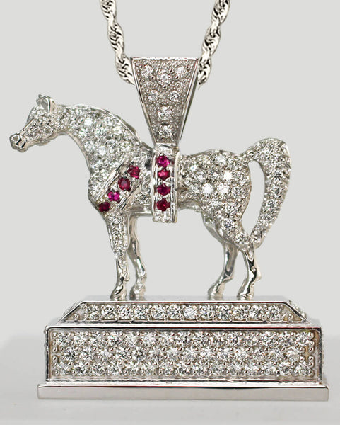 Arabian Horse National Champion Trophy Replica Pendant. This Copyrighted design is handcrafted by Lesley Rand Bennett