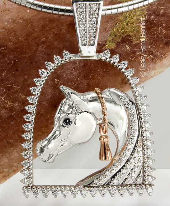 Lovely with tassel arabian horse pendant bennett fine jewelry lovely with tassel arabian horse pendant aloadofball Image collections